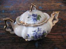 Vintage Napco China Sugar Bowl Violets with Gold Hand Painted IVD211 Original