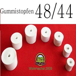Gummistopfen 48/44 für Gärröhrchen aus Glas und PVC für Flaschen und Weinballon