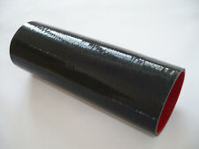 """3"""" Straight Silicone Coupler Hose 76mm Turbo Intake Pipe Length 305mm Black"""