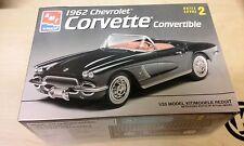 AMT 1962 Chevrolet Corvette Convertible Car Model Kit #6489 OPENED (#M-19)