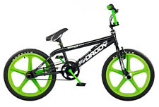 "Rooster Big Daddy Kids 20"" Skyway Mag Wheels BMX Bike Gyro Black Green RS43"