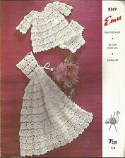 """VINTAGE CROCHET PATTERN ANGEL TOP, PANTS & CARRYING CAPE FOR BABY 20"""""""