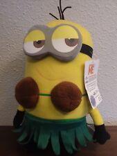 Despicable Me Minion Plush, Grass Skirt & Coconut Bra, w/ Tag & Hologram sticker
