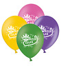 """Mardi Gras Mask & Beads - Mix 4 Assorted Printed 12"""" Latex Balloons pack of 5"""