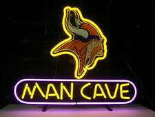 "Minnesota Vikings Man Cave Neon Lamp Sign 20""x16"" Bar Light Beer Display Decor"