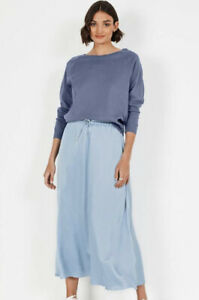Hush Tilda Long Sleeved Top, Washed Stone Blue, S, BNWT