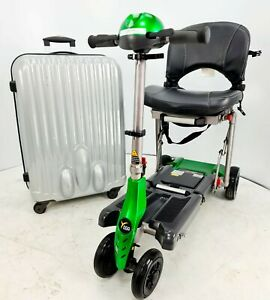 Van os Excel YOGA Folding Mobility Travel Scooter With Suitcase and charger