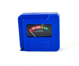 AA/AAA/C/D/9V/1.5V Universal Button Cell Battery Tester Checker Blue