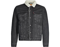 NEW LEVIS MENS TYPE 3 SHERPA TRUCKER JACKET GREY COTTON 163650097 ALL SIZES