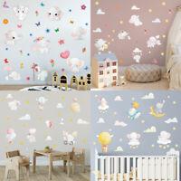 Baby Elephant Cute Animal Wall Sticker Cartoon Kids Nursery Baby Room Wall Decal