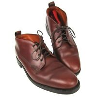 VTG Willis & Geiger Ankle Boots Brown Leather Men's Size 12 Safari Hiking Trail