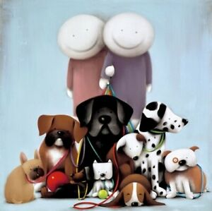 """DOUG HYDE  """"LOVE COMES IN ALL SHAPES AND SIZES"""" NEW LTD EDT GICLEE PRINT MOUNTED"""
