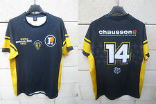 Maillot rugby SCA ALBI porté n°14 made in France shirt XL