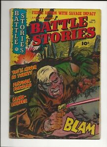 BATTLE STORIES #7 1953 FAWCETT GOLDEN AGE WAR COMIC GD/VG
