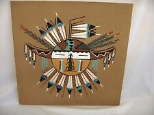 Art Sand Painting Walking Thunder Navajo Medicine Woman Sunburst Courage Signed