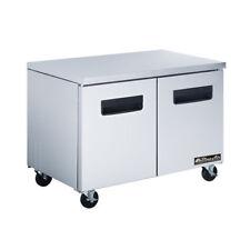 "New 36"" 2 Door Under Counter Refrigerator Nsf Blue Air Baur36 #6301 Cooler"