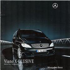 Mercedes-Benz Viano X-Clusive 2010 UK Market Sales Brochure 3.5 3.0 CDi