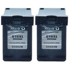 Compatible with 2PK Black Ink Cartridge for HP 61XL DeskJet 3052 3054 3055 3510