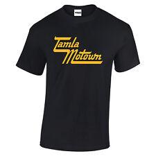 Motown Soul Tamla Mowtown North soul Disco Gold logo Black t shirt sizes to 3XL
