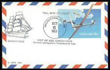 USA GA 1983 SSt. VISIT GORCH FOCK SCHIFFE SCHIFF SHIPS SAILING SHIP bo87