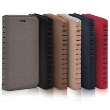 Premium Leder Tasche Schutz Hülle Etui Case Cover Wallet Flip Klapphülle