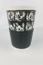 DISNEY Mickey Mouse & Goofy White Coffee/Tea Travel Mug & Sleeve no lid