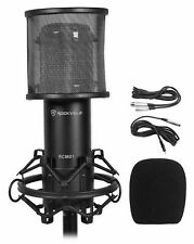 Rockville RCM01 Studio Recording Condenser Microphone Mic+Shock Mount+Pop Filter