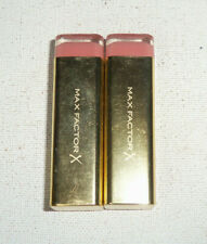 2 tube lot MAX FACTOR X COLOUR ELIXIR LIPSTICK 725 SIMPLY NUDE unsealed