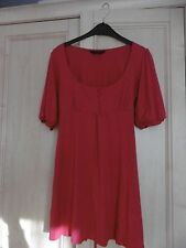 Ladies shocking pink/cerise long top/tunic size 12 Dorothy Perkins NWOT