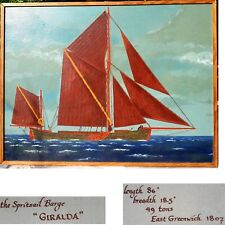 Kunst Ölgemälde signiert Kunst Malerei GIRALDA / Segelschiff Gemälde Segelboot