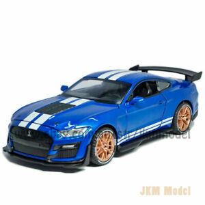 1:32 Ford Mustang Shelby GT500 Model Car Alloy Diecast Toy Vehicle Kid Gift Blue
