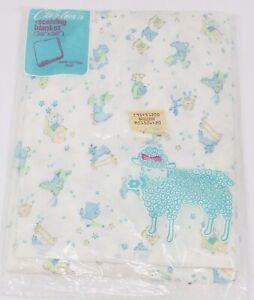 Vintage Carter's Baby Knit Blanket Nursery Rhymes 36X36 *NEW*