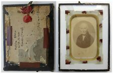 Photo vers 1850 cadre Antoine Ravix Grenoble St Joseph - cachet de cire