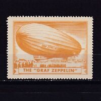 GERMANY 1920-30, CINDERELLA/Poster Stamps, The 'Graf Zeppelin', MH