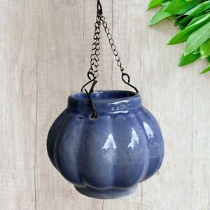 Small Hanging Ceramic Air Plant  Holder / Hanging Tealight Candle Holder Lot 3
