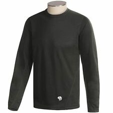 Mountain Hardwear Men's ThermaDry Base Layer Long Sleeve Shirt in Black -Size XL