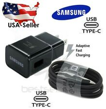 Original Samsung Galaxy Note10 S9 S8 Plus OEM Fast Wall Charger & Type-C Cable
