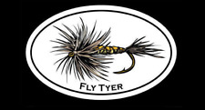 """""""Fly Tyer"""" Fly Fishing Decal - Dry Fly Tying Sticker"""