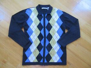 Nordstrom Kids Boys Pine Peak Blues Cardigan Zip up Sweater Size 10-12 Y