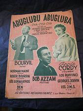 Partition Abuglubu Abluguba Bourvil Annie Cordy Bob Azzam 1960 Music Sheet