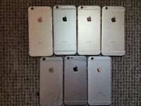 7X Apple iPhone 6 A1586 Back Covers - INCOMPLETE/UNTESTED/SPARES/SCRAP/JOBLOT