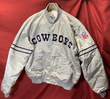 Vintage Pro Line Starter Men's NFL Dallas Cowboys Jacket Sz XL RARE SILVER COLOR
