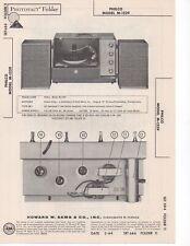 1964 PHILCO M-1529 RECORD PLAYER CHANGER AMPLIFIER SERVICE MANUAL SCHEMATIC FIX