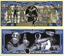 Counter Strike Video Game Million Dollar Novelty Money