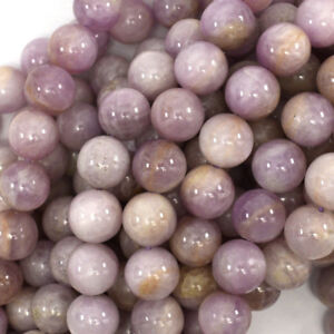 "Natural Lavender Kunzite Round Beads Gemstone 16"" strand 4mm 6mm 8mm 10mm 12mm"