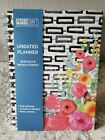 PaperCraft Undated Planner, Spiral Bound, Monthly  Weekly Format, Flowers, New