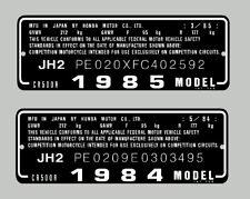 HONDA CR500R HEADTUBE   / FRAME DECAL