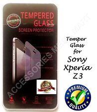 TEMPER GLASS SCREEN PROTECTOR ANTI-SCRATCH GUARD FILM FOR SONY XPERIA Z3