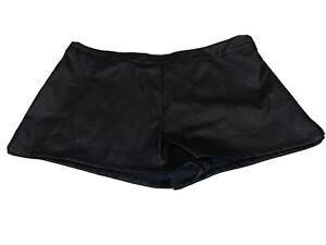 Victoria's Secret Womens Faux Black Leather Shorts Size Medium NWT