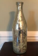 Pottery Barn Speckled Silver And Gold Glass Decorative Bottle
